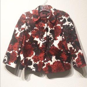 Talbots size 2 3/4 sleeves beautiful floral blazer